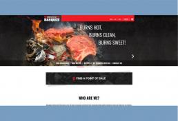 Basques Hardwood Charcoal website